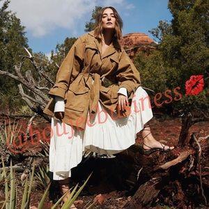 H&M Studio Collection Cotton Canvas Coat
